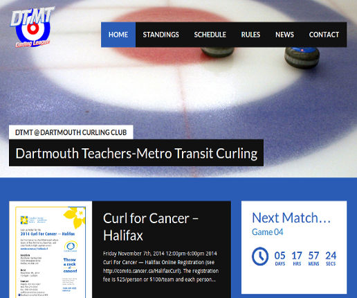 10 teams and 40 curlers get together every Saturday to Curl at the Dartmouth Curling Club in Dartmouth, NS